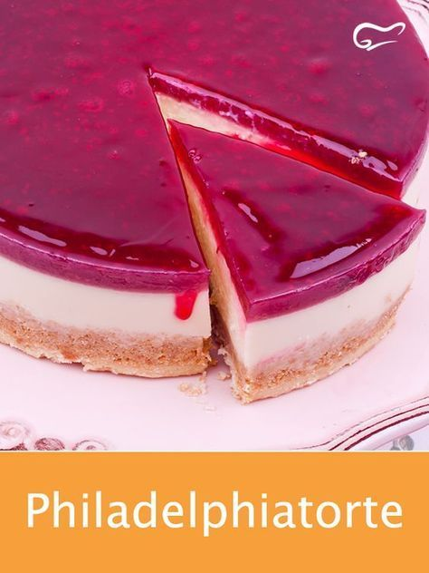 Photo of This wonderful Philadelphia cake with raspberries tastes very light and fresh ….
