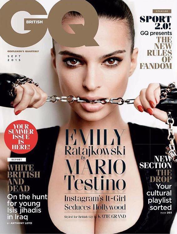 gq cover ratajkowski Emily magazine