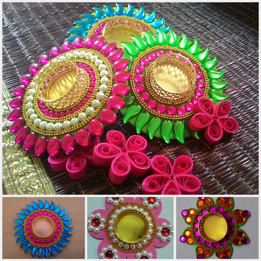 Diwali Decoration Ideas And Crafts Glittering Diyas Quilling Diwali Diy Diwali Gift