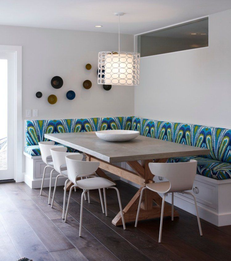 Banquette Cuisine En Bois Superbe A Faire Soi Meme Dining Booth Dining Room Contemporary Eclectic Dining Room