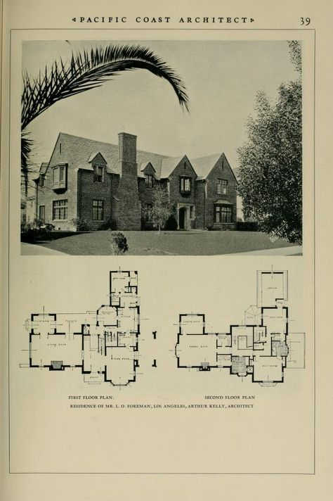 pacific coast architect vintage floorplan 2 house floor plans rh pinterest com