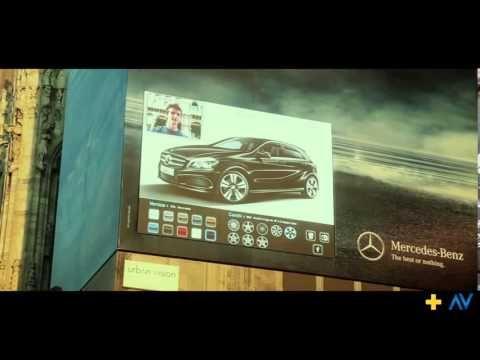 #Mercedes #Billboard #Ledwall #Interaction #Milano