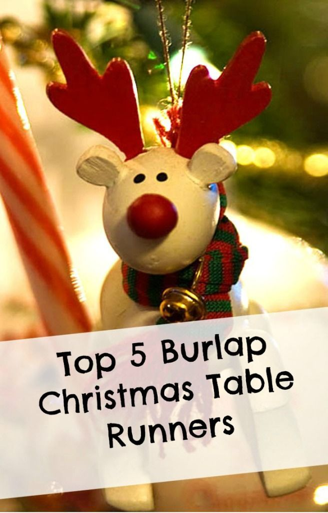 Burlap Christmas Table Runners *** Christmas Pinterest Burlap