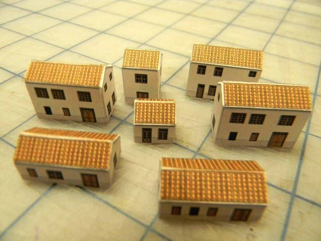 Miniature House Paper Models For Diorama Free Templates
