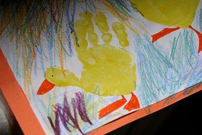 Ducky Hand Prints