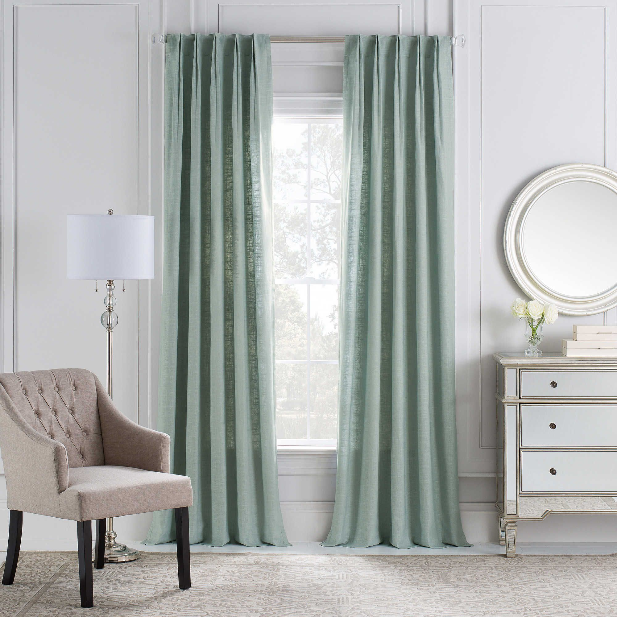 Bed bath and beyond window curtains  cambria malta euro pleat back tab window curtain panel  f m
