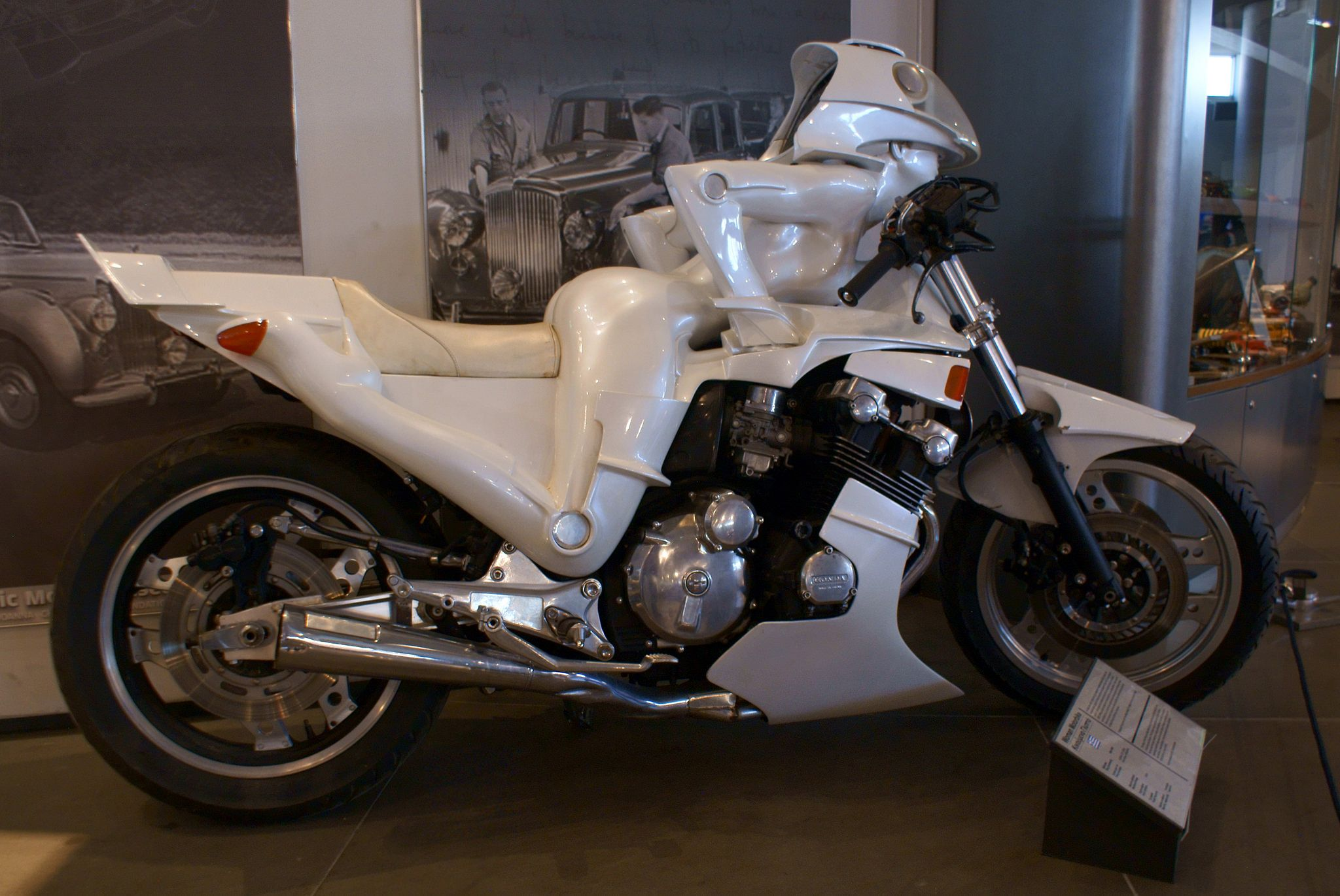 "1985-9 ""Woman Motorbike"" by Dimitris Korres, Hellenic Motor Museum, Athens, Greece"