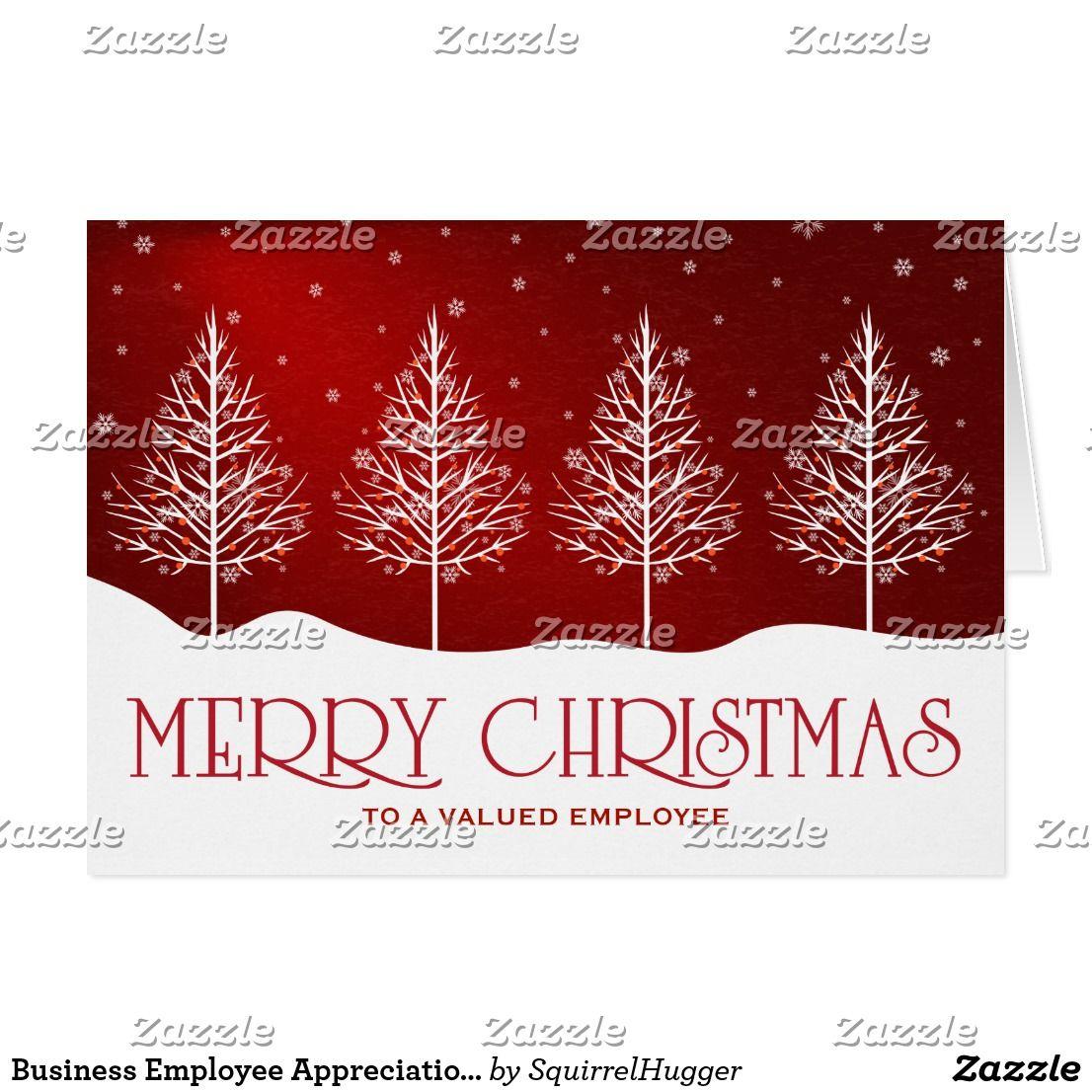 Business Employee Appreciation Christmas Greetings Holiday Card Zazzle Com Corporate Christmas Cards Business Holiday Cards Christmas Greetings