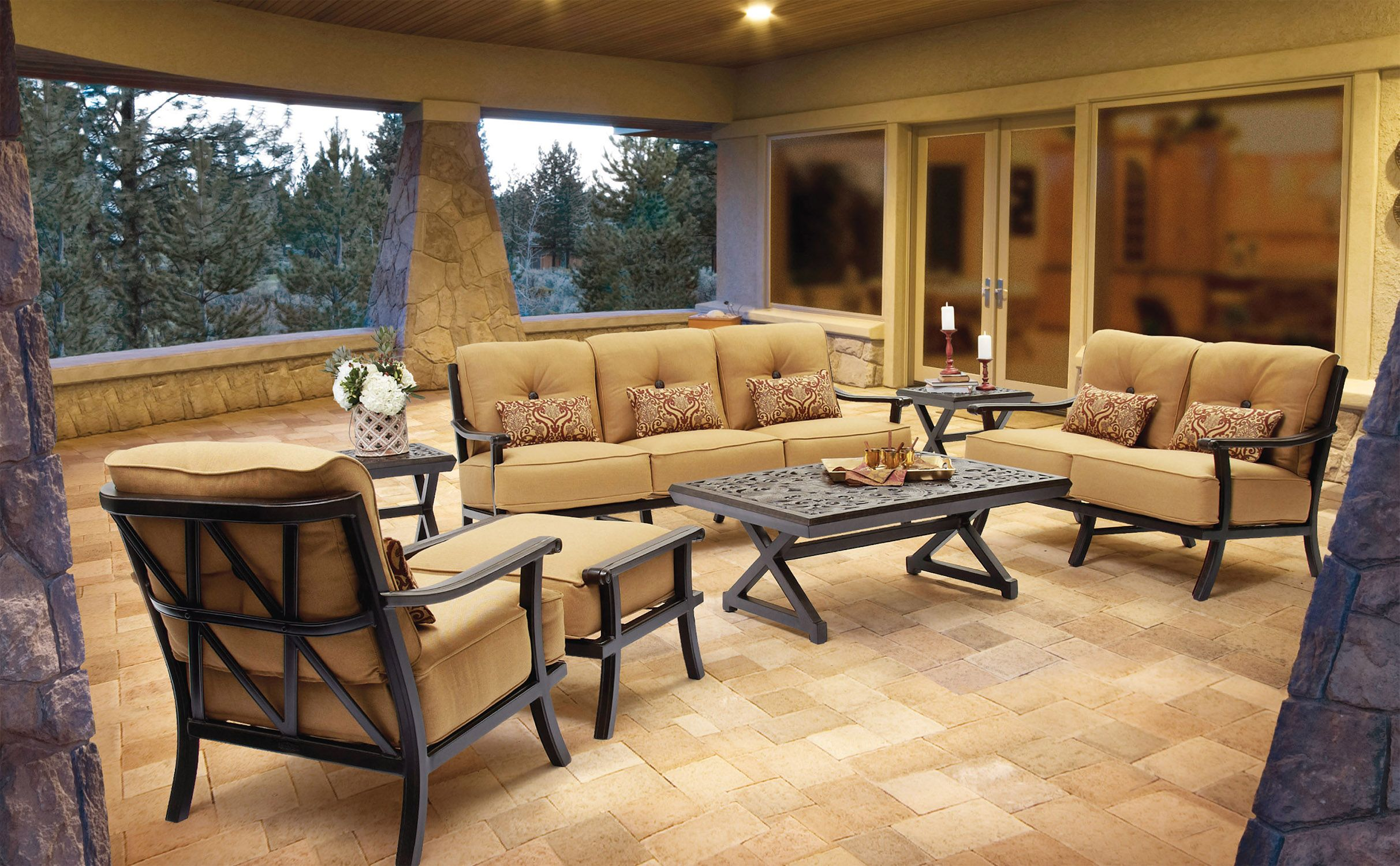 The Deep Seating Set in the Chateau Collection from Pride ... on Fine Living Patio Set id=80999