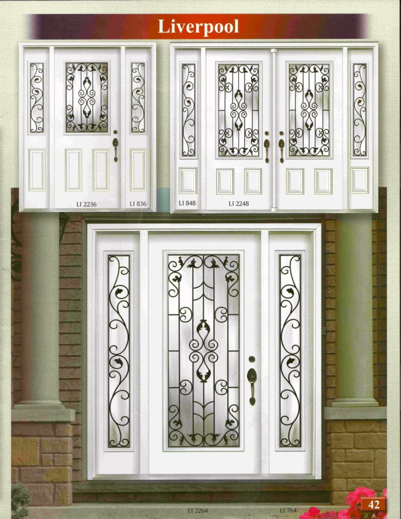 Wrought Iron Glass Door Inserts Shutter Outlet Interior And