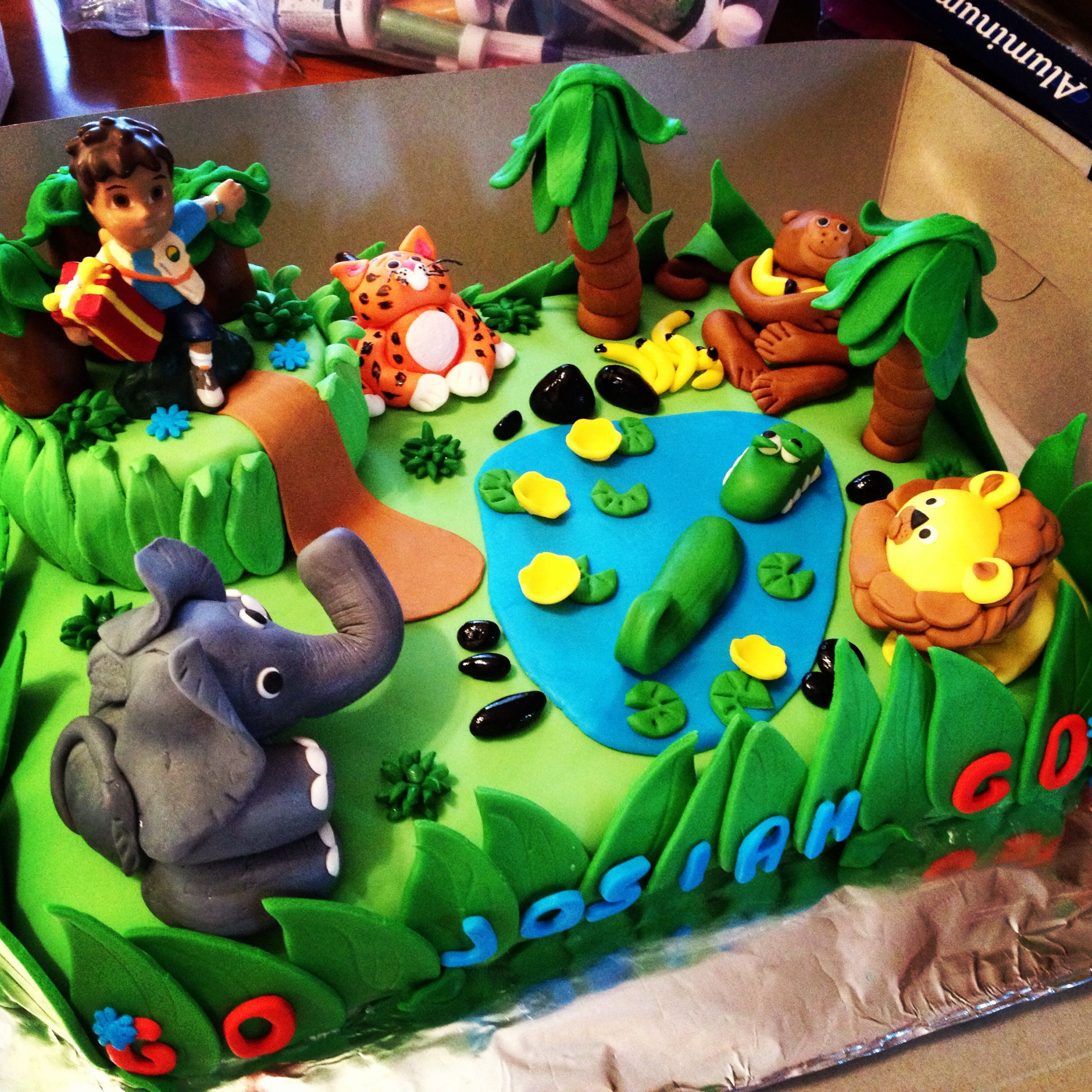 Go Diego Go Birthday Cake Made By Judy Walker Boy Birthday Cake - Go diego go birthday cake
