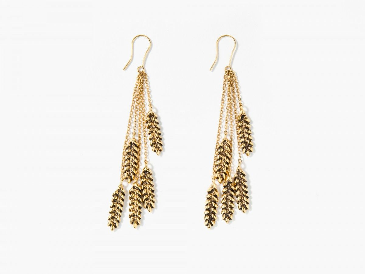 Multi Wheat earrings