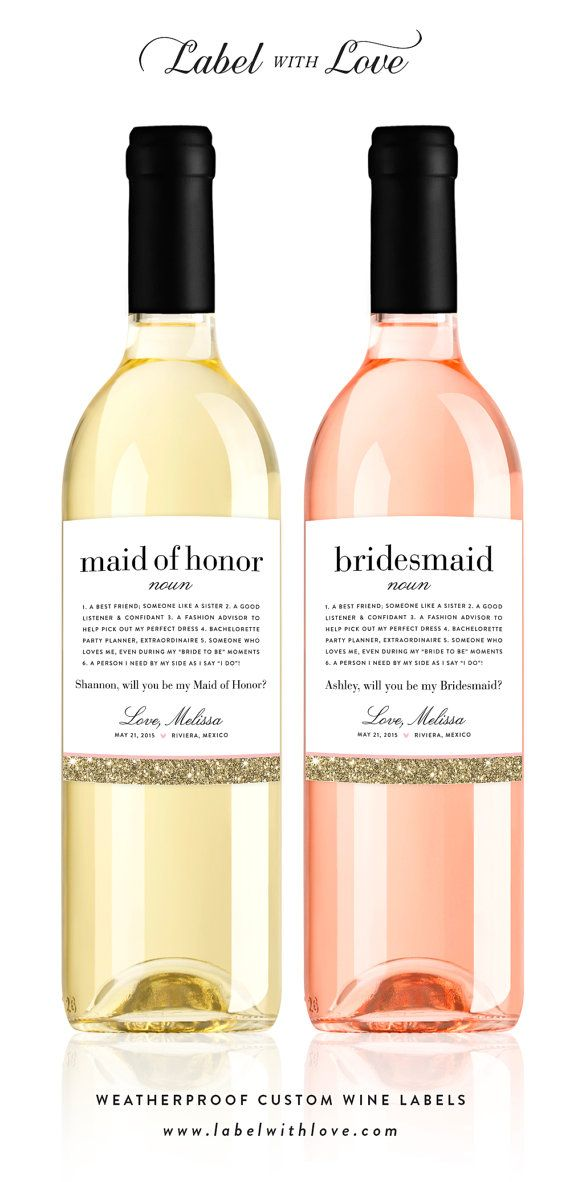 Bride Tribe Wine Sticker Will You Be My Maid of Honour Wine Label Rude Wine Bottle Label Bridal Party Wine Label Maid of Honour Proposal