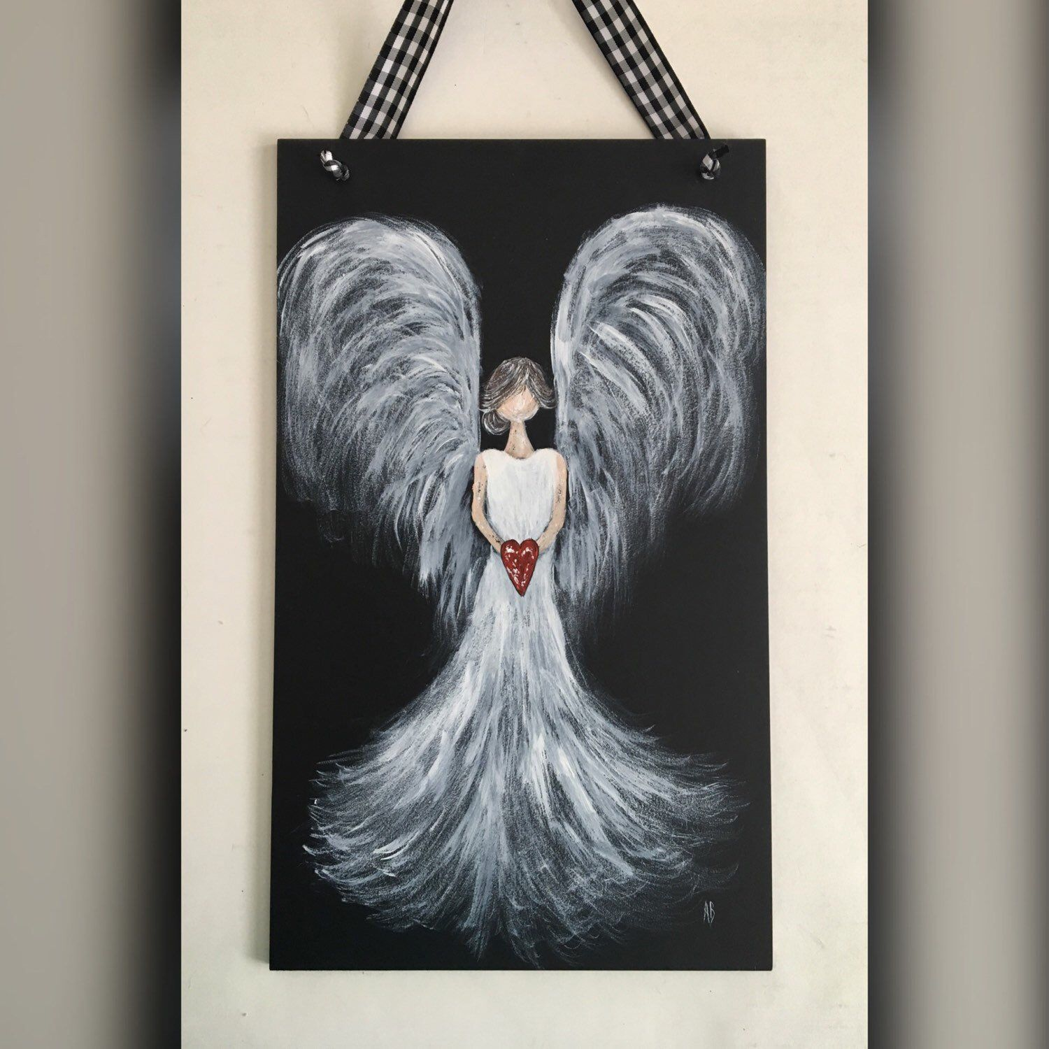 New Angel Painting On A Dramatic Black Background Angel
