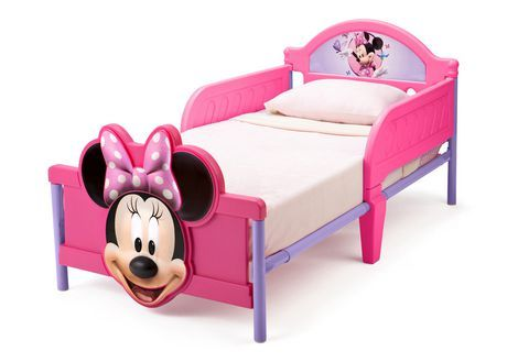 Disney Mickey Minnie Mouse 3d Toddler Bed Pink Convertible