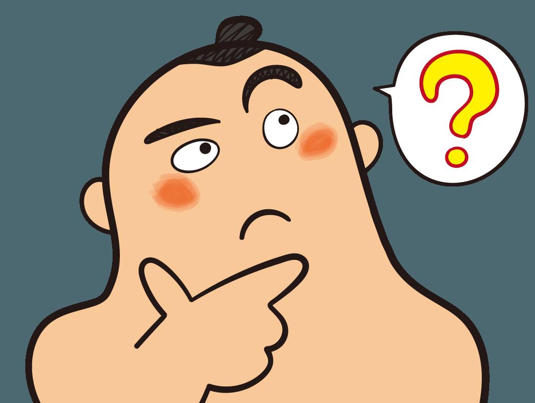 お相撲さんの表情いろいろ 疑問 イラスト Gogons Magazine お