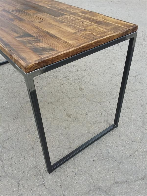Image Result For Pallet And Metal Chair Pallet Desk Wood And