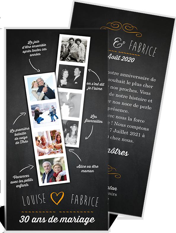 invitation anniversaire de mariage pour