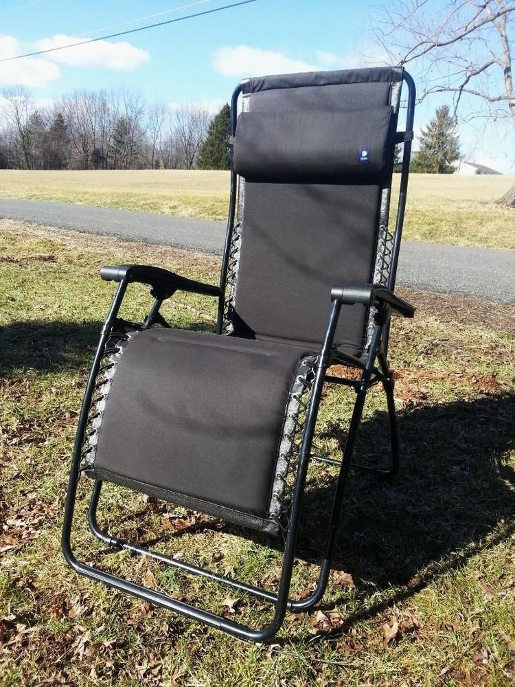 Lafuma RSX Black Frame Seat Zero Gravity Reclining Camp Chair XL Recliner  France