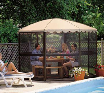 Elegant Screen House Tent Canopy Camping Gazebo Shelter Shade New Patio Sun Outdoor