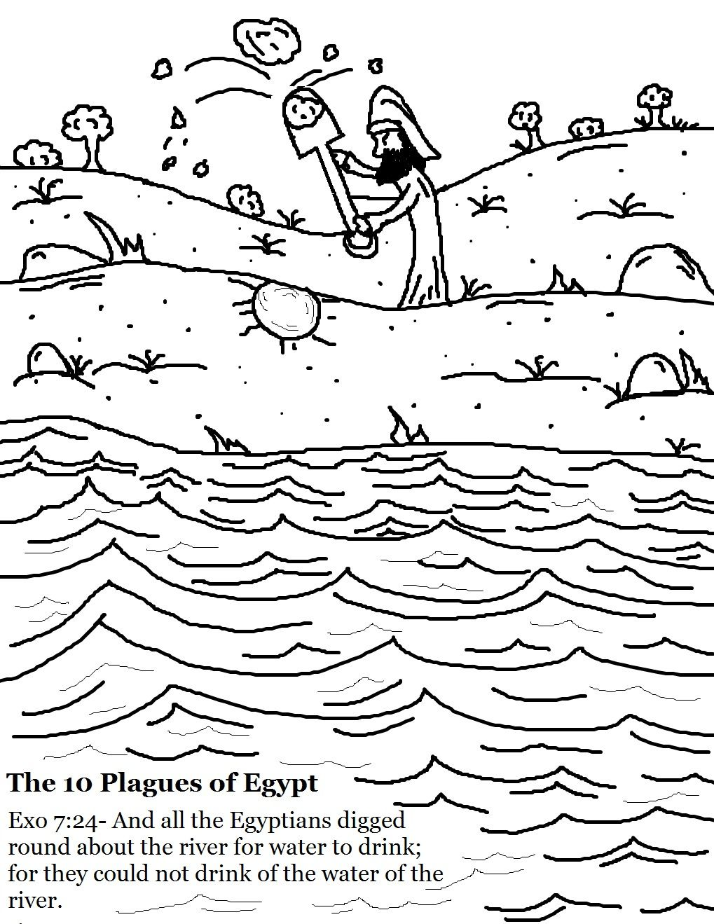 Coloring pages with images coloring pages 10 plagues