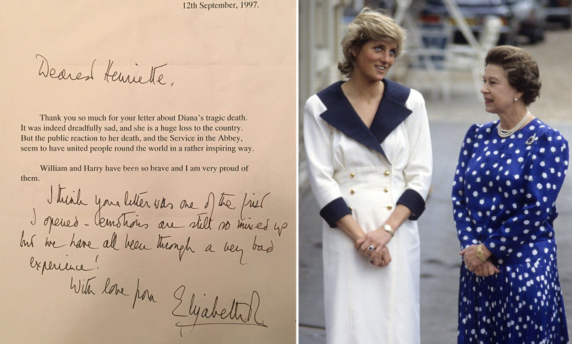 A letter from the Queen to one
