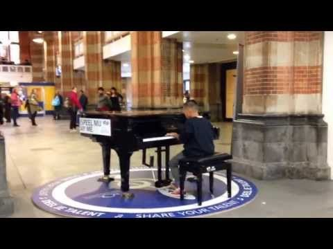 10 year old kid plays piano instrumental version