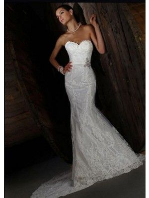 Impression Bridal 10173 Mermaid Silhouette Sweetheart Neck Chapel Train - Sheath, Strapless