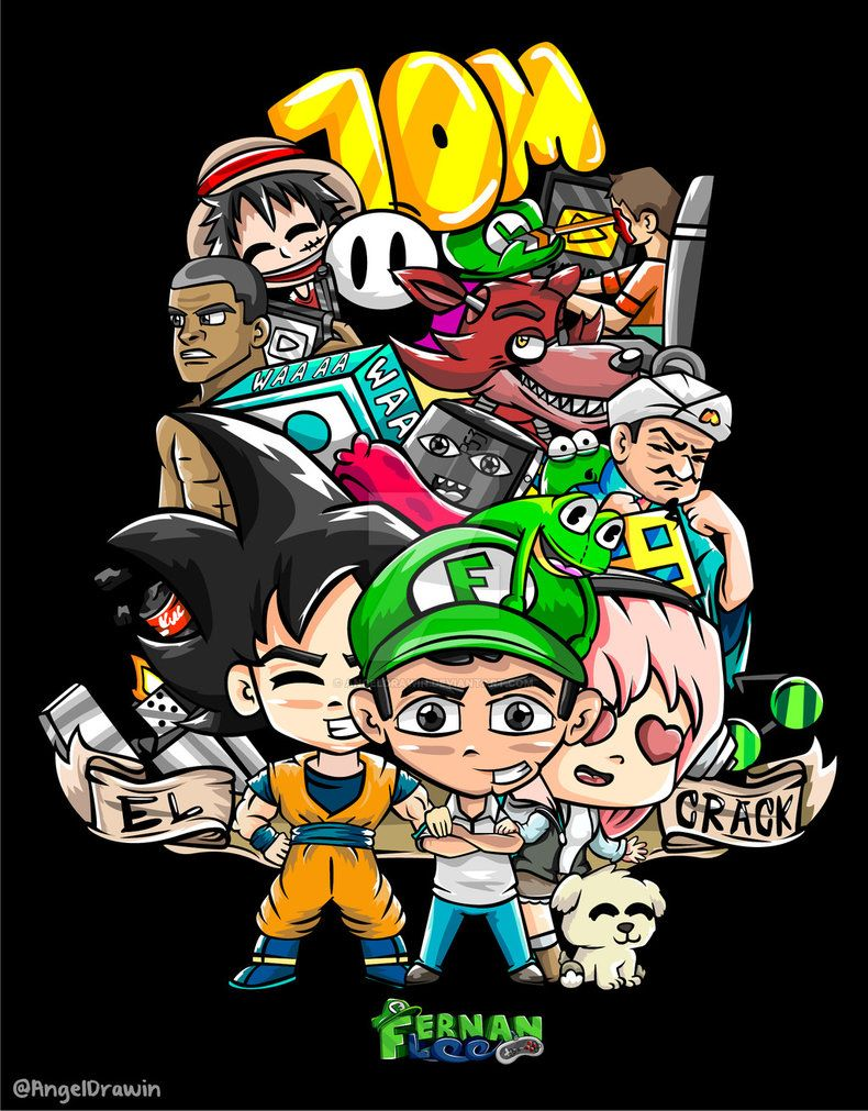 Resultado De Imagen Para Dibujos De Fernanfloo Youtubers Anime Fan Art
