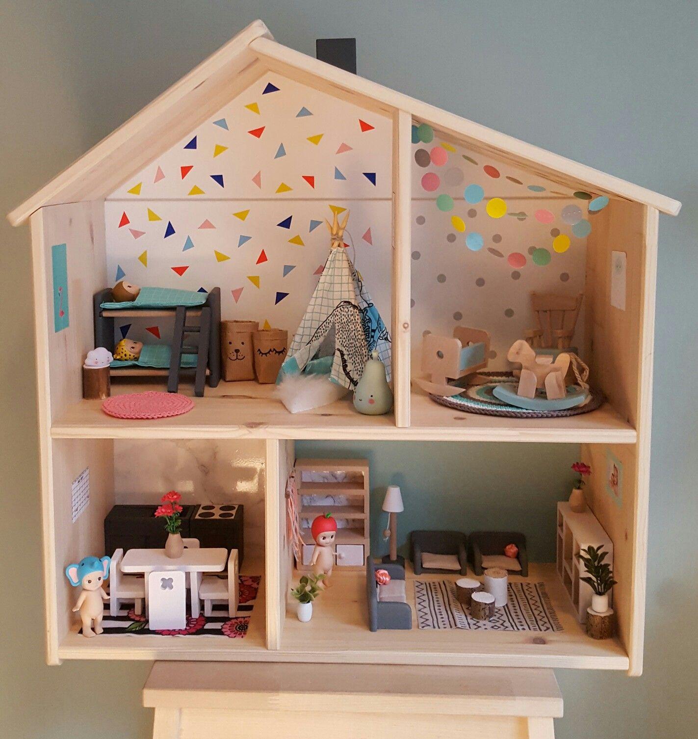 Modern Dollhouse Modern Poppenhuis Ikea Flisat Dollhouse