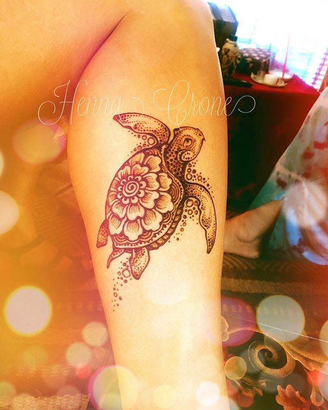 Small Henna Wrist Tattoos Sea Turtle And Lotus Infinity: Longevity, Steadfastness, Returning To Our Roots, Our Home