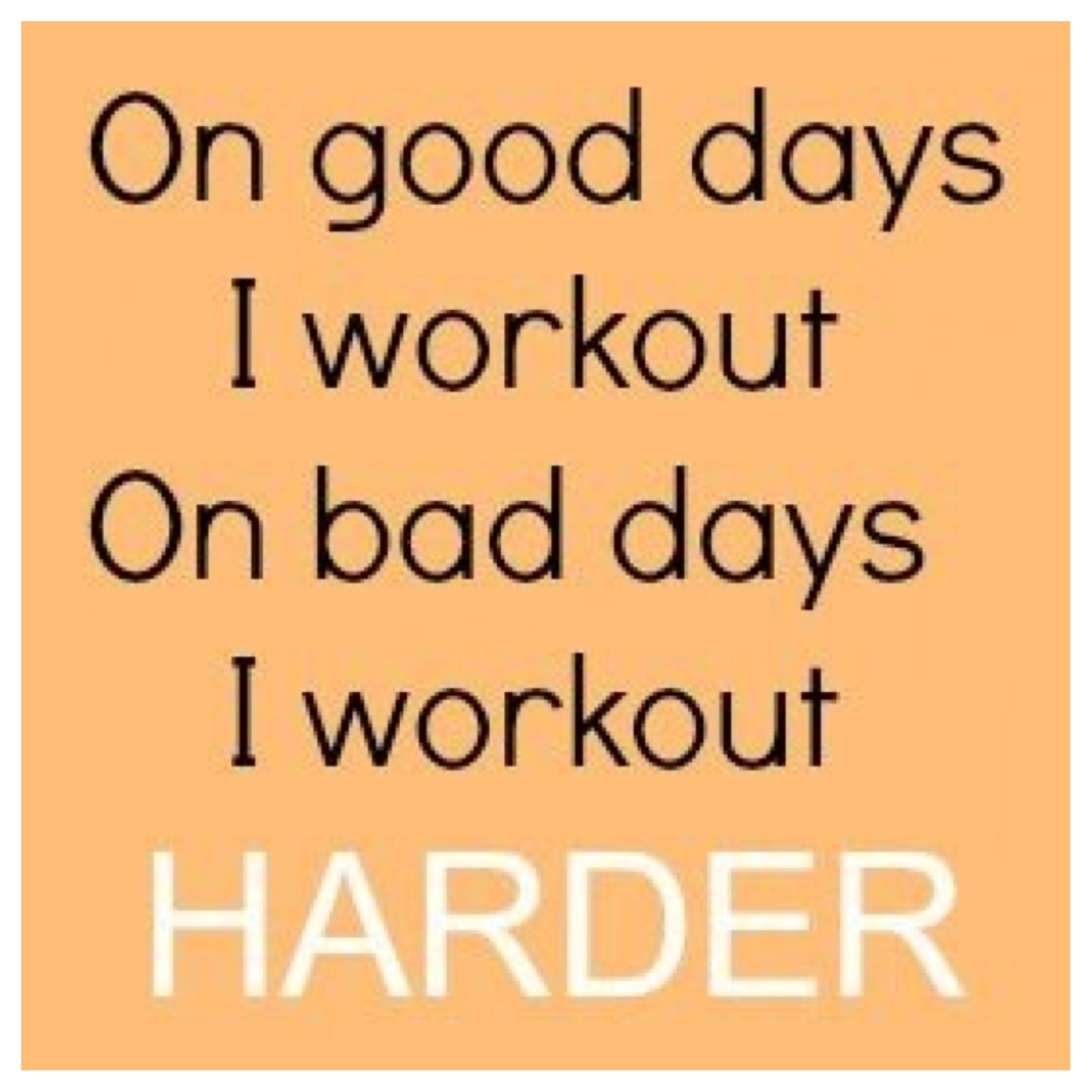 Bad days make for a good workout!!!