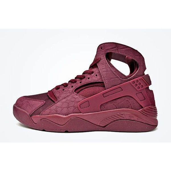 ee377968165d NIKE AIR FLIGHT HUARACHE (BURGUNDY CROC) Sneaker Freaker ❤ liked on  Polyvore featuring shoes and men