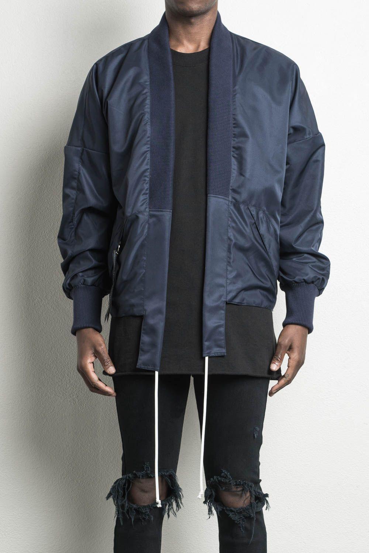 0738cd916 kimono bomber ii // indigo | daniel patrick in 2019 | Designer ...