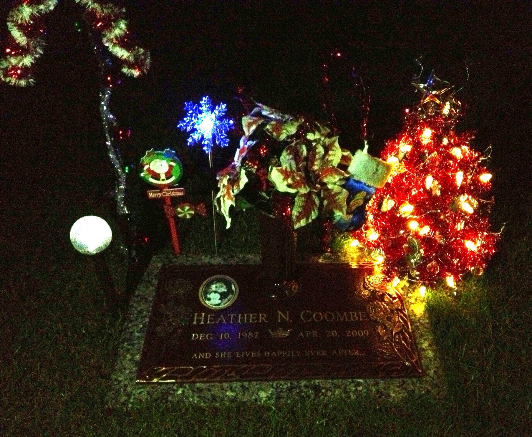 Solar Grave Decorations Momas Christmas Tree With Solar Lights Headstone Ideas