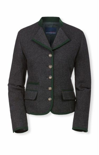Traditional loden jacket Nelia anthrazit | Tracht Jackets
