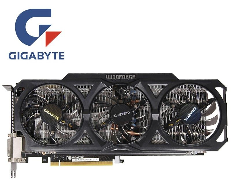 On Sale Gigabyte Gv N760oc 2gd Video Card 256bit Gddr5 Gtx 760 N760 Rev 2 0 Graphics Cards For Nvidia Geforce Gtx760 Hdmi Dvi Cards Video Card Cards
