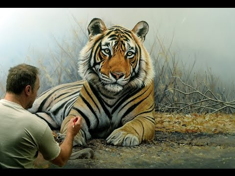 Prince Of India Life Size Tiger Oil Painting Youtube In 2020 Tiger Painting Animal Paintings Oil Painting