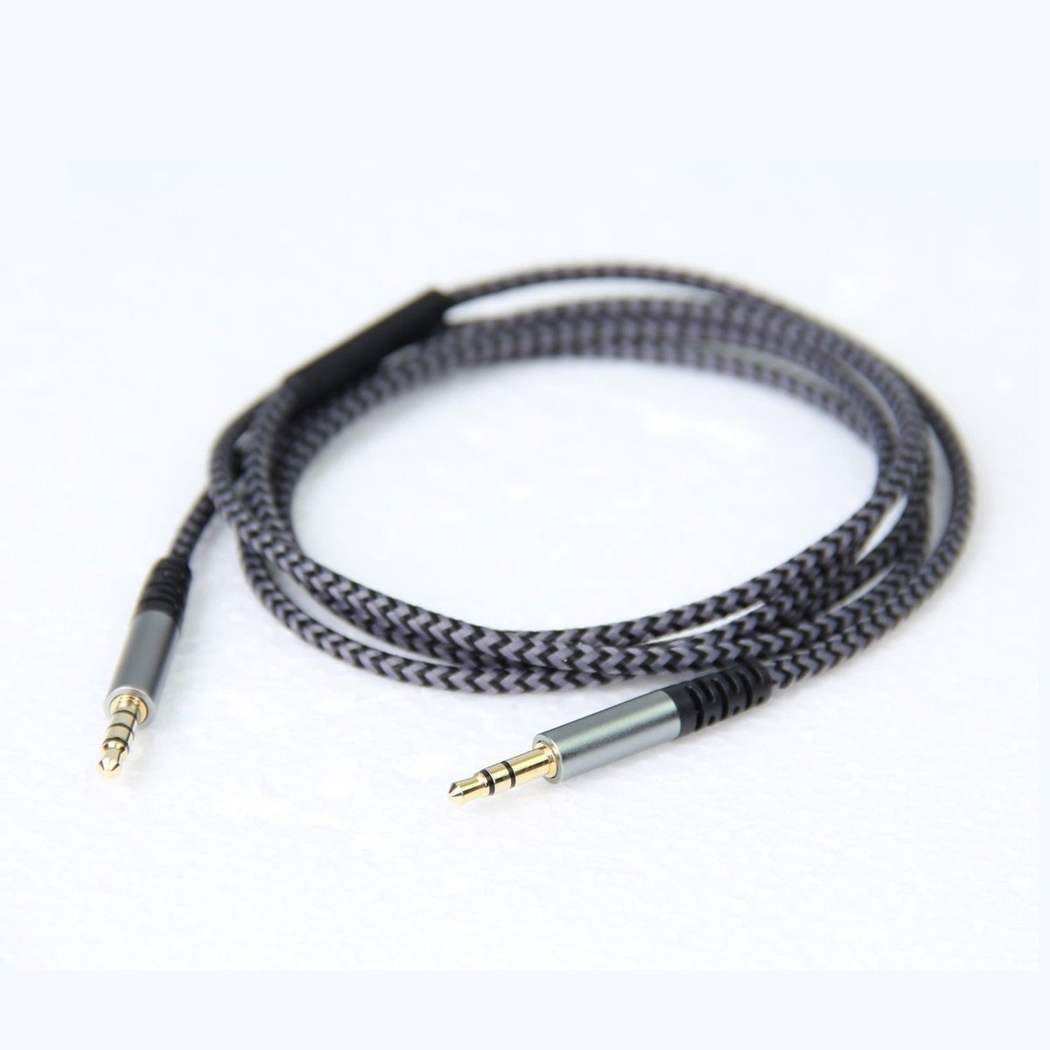 Replacement audio cable line with mic remote line for Crusher aviator headphone