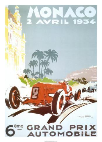 Monaco - 1934 Posters par Geo Ham sur AllPosters.fr