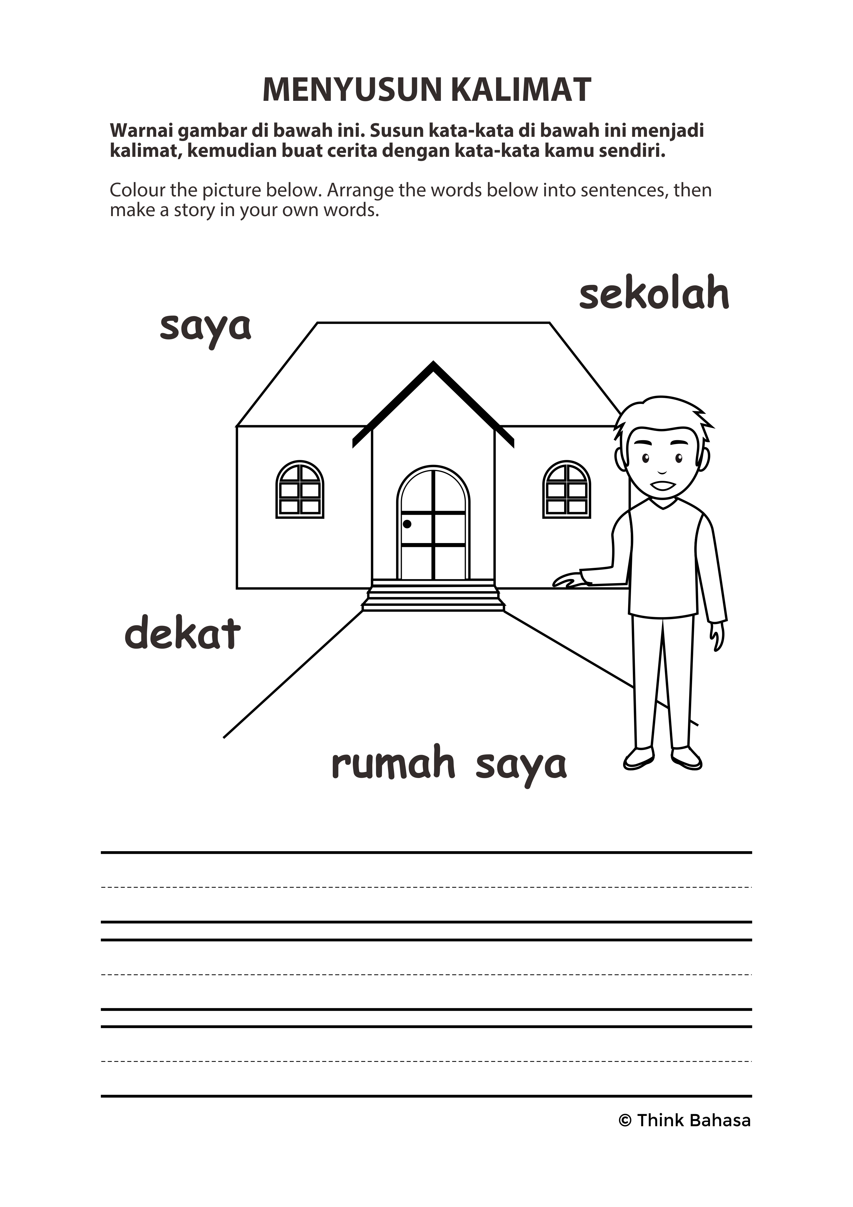 Belajar Bahasa Indonesia Sentence Building Activities Sight Words Sight Word Sentences