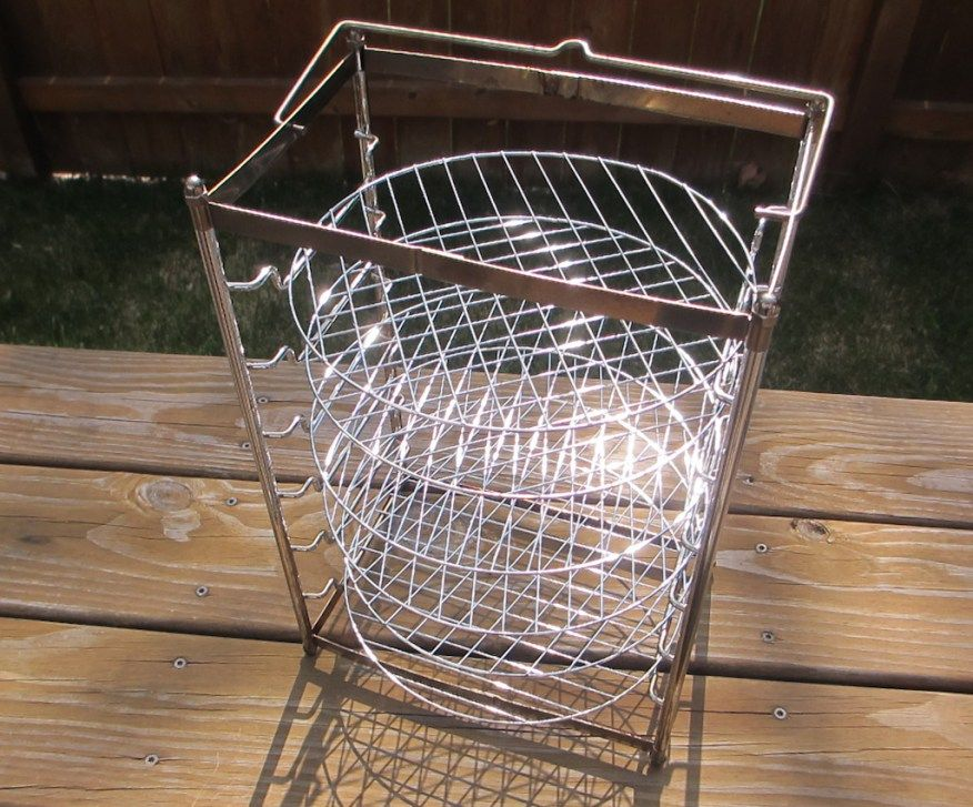 The Big Easy Bunk Bed Basket Perfect for Cooking Two Chickens at Once