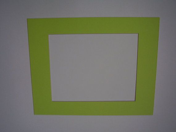 Picture Framing Mat Lime Green 11x14 For 8x10 Photo Or Art Etsy Picture Frame Mat Frame Matting Picture Frames