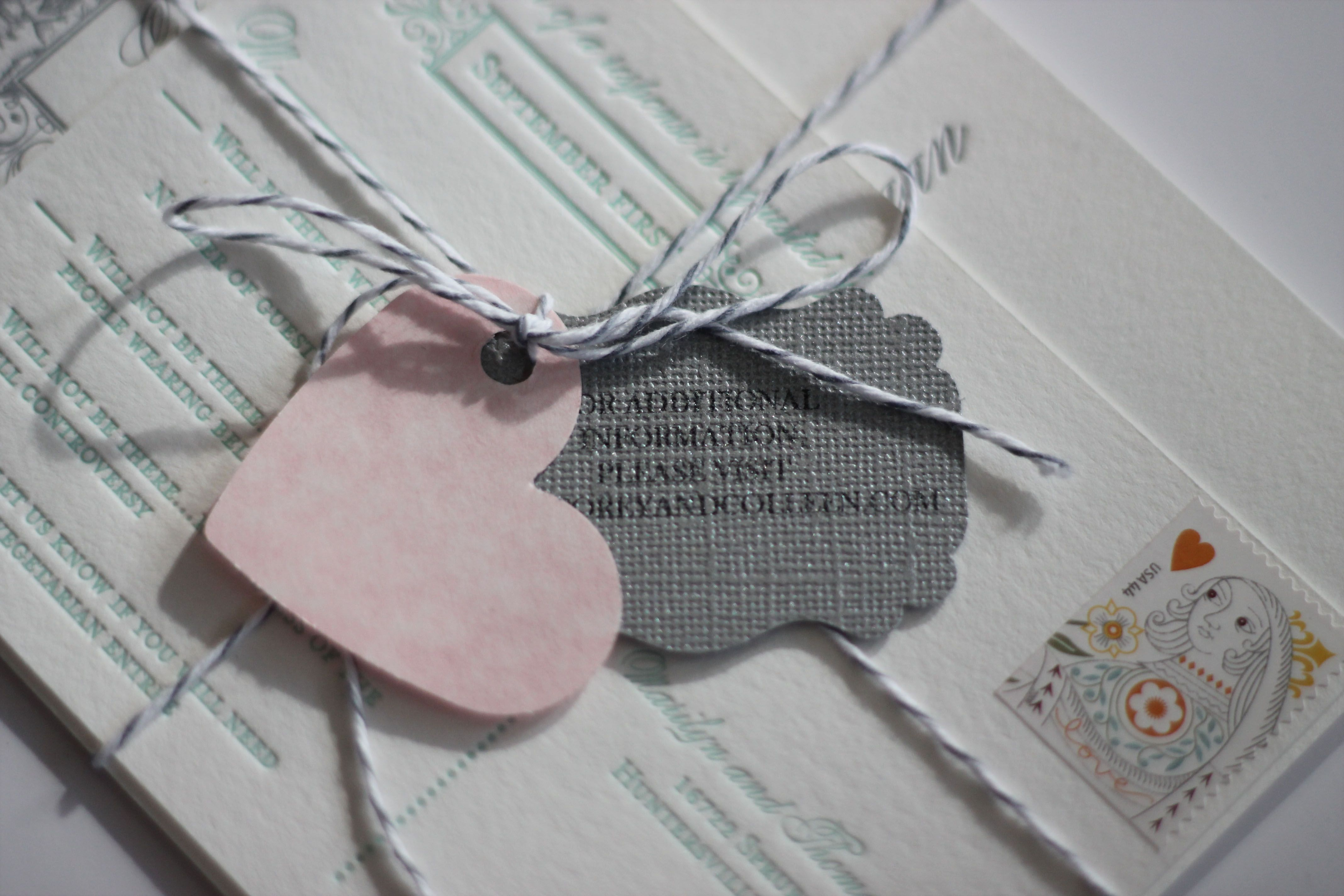 Invitation suite tied up with bakers twine   wedding themes ...