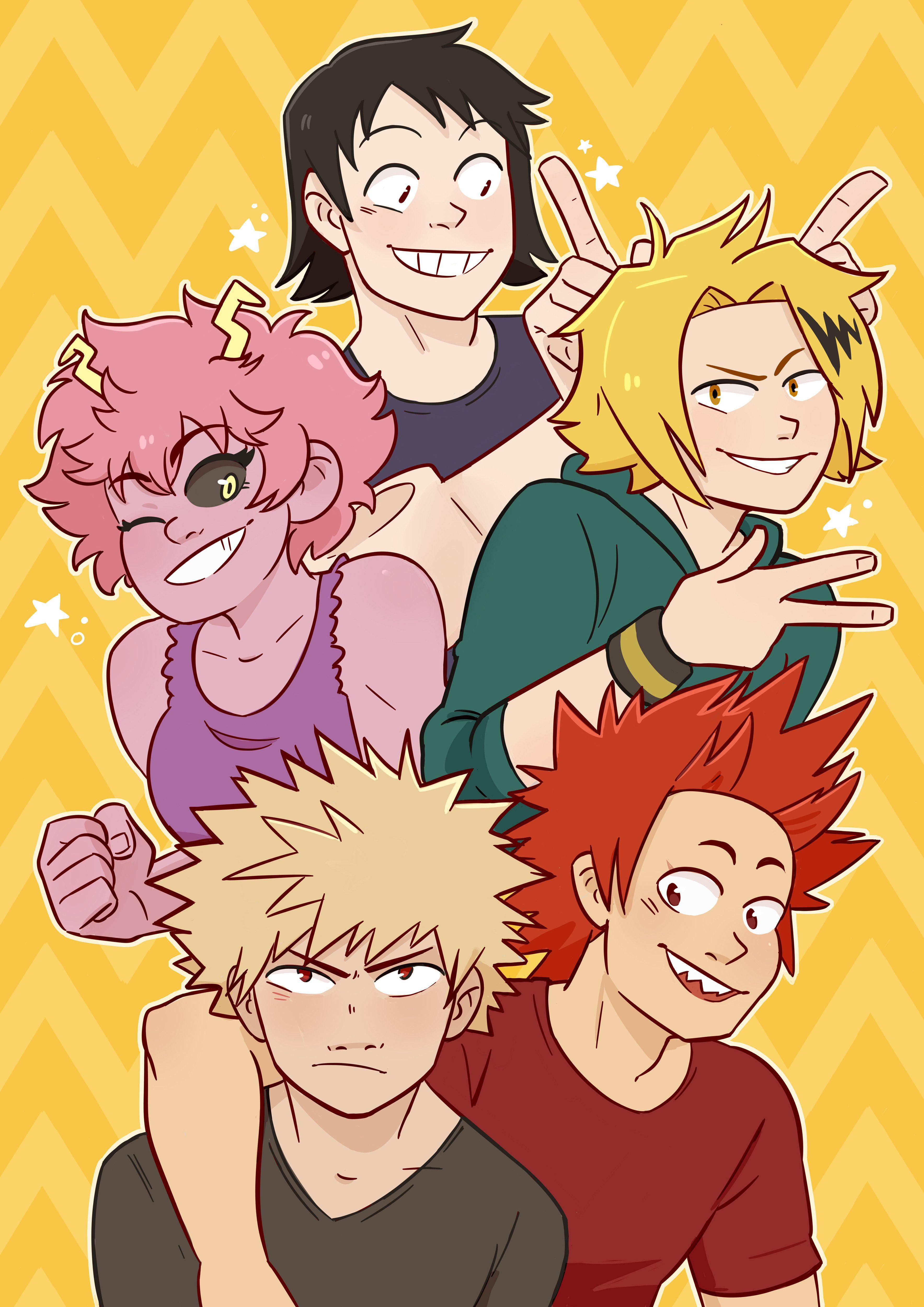 Baku Squad Hero My Hero Academia Manga My Hero