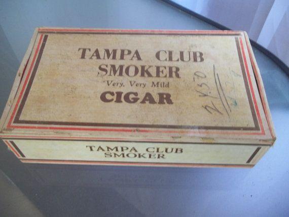 Tampa Club Smoker Very Very Mild Cigar Box Vintage Storage Home Decor
