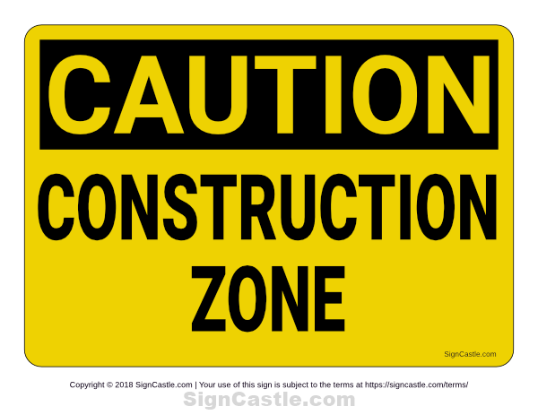 photo regarding Free Printable Construction Signs referred to as Pin by means of Muse Printables upon Printable Signs or symptoms at