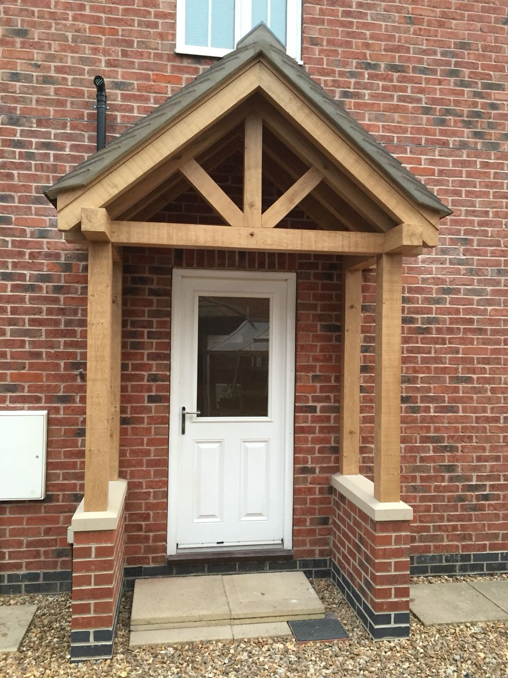 Green Oak Porch At Market Drayton Renovation Project