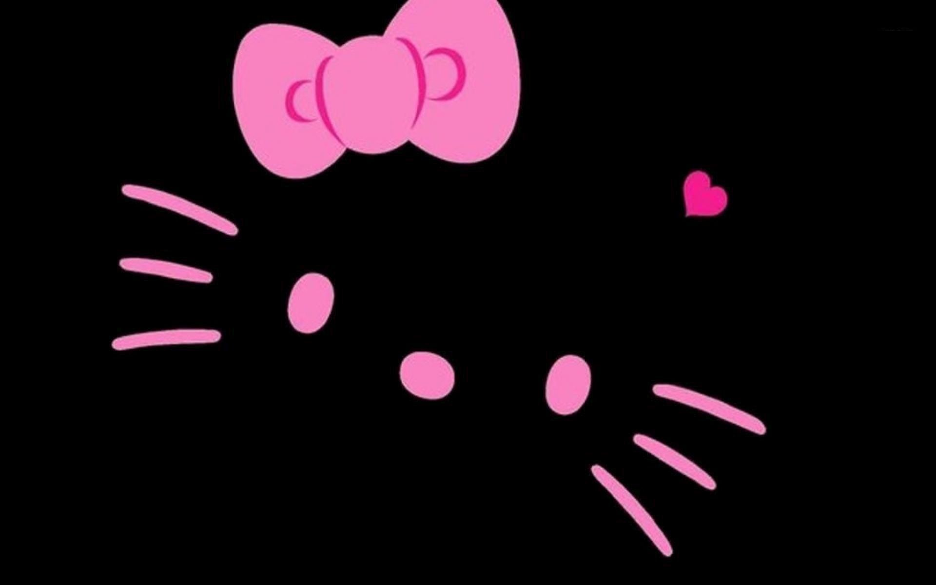 Hello Kitty Pink And Black Love Wallpaper High Resolution On Wallpaper 1080p Hd Hello Kitty Wallpaper Hello Kitty Wallpaper Hd Pink Wallpaper Hello Kitty