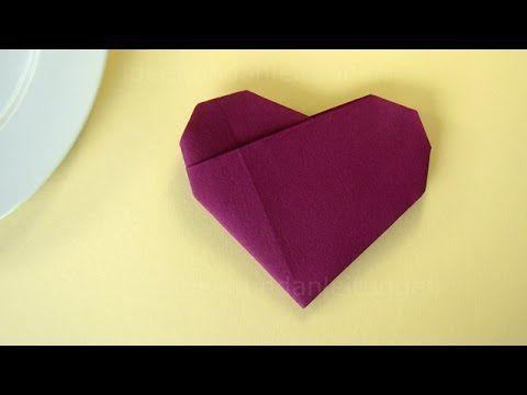 Servietten falten: Schmetterling - einfache Tischdeko selber machen - DIY - YouTube #serviettenfalteneinfach